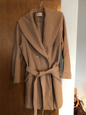 Collection Long Jacket camel mixture fibre