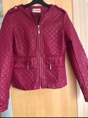 Faux Leather Jacket raspberry-red