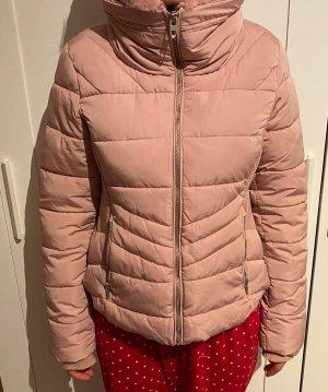 Zara Futrzana kurtka różowy-jasny różowy