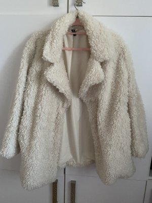 H&M Futrzana kurtka biały