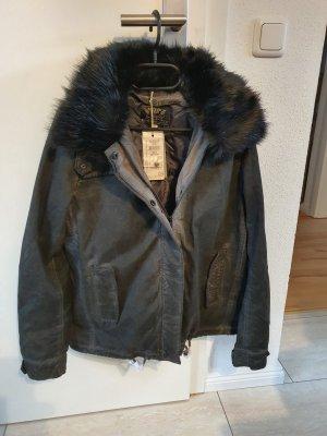 Soccx Fake Fur Jacket black
