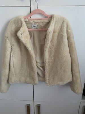 Pimkie Futrzana kurtka biały-kremowy