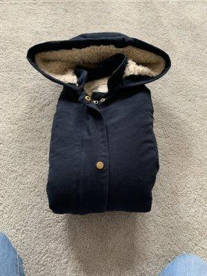 Zara Giacca con cappuccio blu scuro