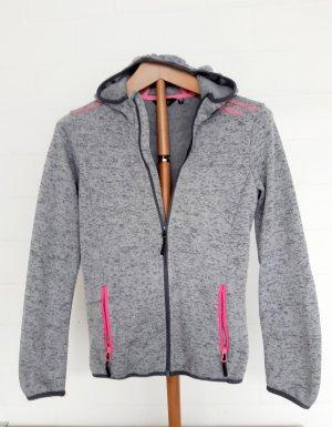 Designa Giacca in pile grigio chiaro-rosa