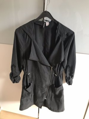 H&M Chaqueta con capucha gris antracita