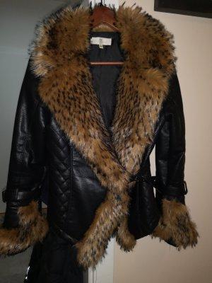 chic & jeune Fake Fur Jacket black