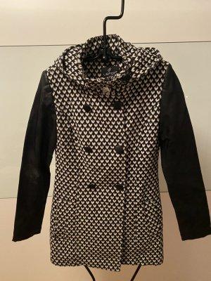Lefon Pea Jacket black-white