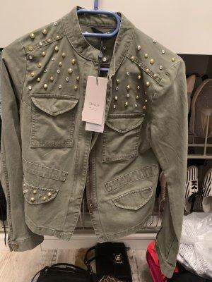 Only Biker Jacket green grey
