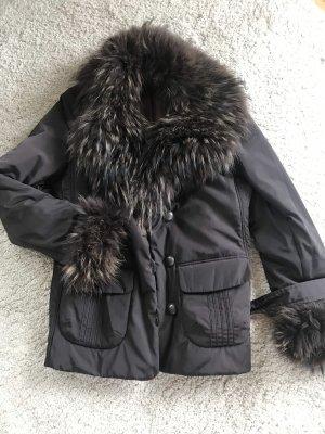 Madeleine Futrzana kurtka ciemnobrązowy