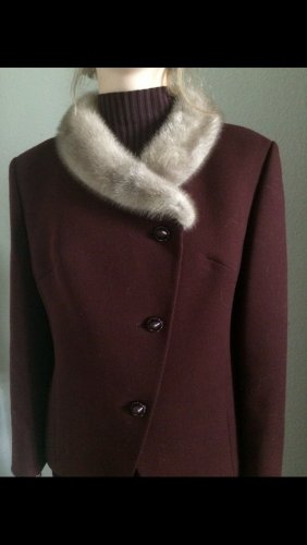 Vintage Pelt Jacket bordeaux-brown red wool