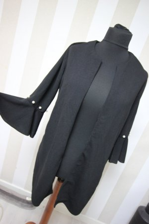 Veste longue noir-blanc