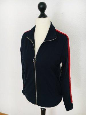 Jacke mit Reissverschluss, Gr S, Peek und Cloppenburg, Streifen, Seitenstreifen