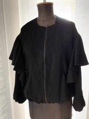 Jacke mit Rüschen Gr 36 38 S von Zara