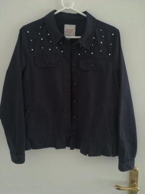 Clockhouse Blouse Jacket dark blue cotton