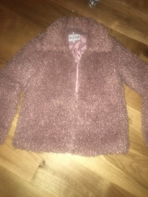 NA-KD Fur Jacket dusky pink