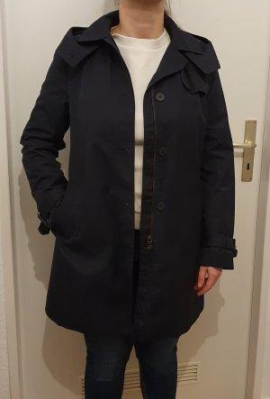 Zara Basic Kurtka z kapturem ciemnoniebieski