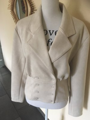 Costes Faux Leather Jacket cream