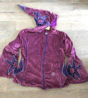 Veste à capuche bleu violet-violet