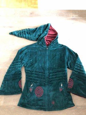 Reversible Jacket petrol-carmine
