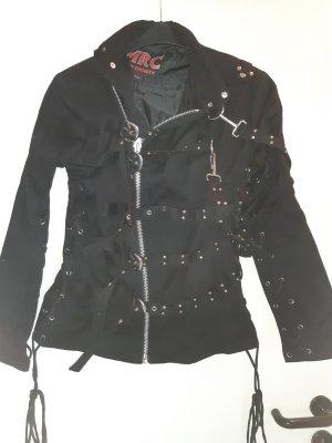 MRC Dark Society Veste de marin noir-argenté coton