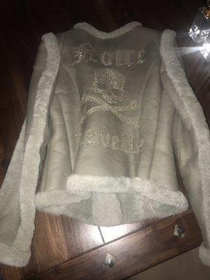 Philipp Plein Giacca di pelliccia color cammello-marrone-grigio