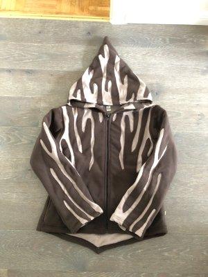Handmade Chaqueta de forro polar marrón oscuro-marrón claro