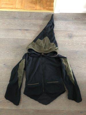 Handmade Veste à capuche noir-kaki