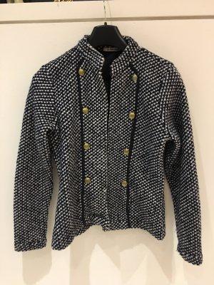 Rich & Royal Wool Blazer dark blue-white