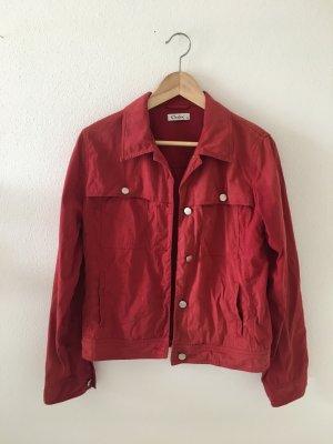 Jacke rot vier Taschen seitlich Brusttasche 38 medium leicht ungefüttert  Sommer
