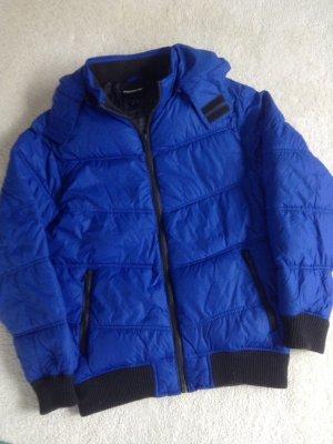 Amisu Winterjack blauw-zwart