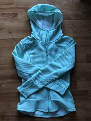 Salomon Hoody light blue-turquoise