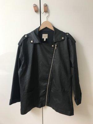 Jacke schwarz Bikerstil