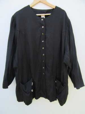 Jacke schwarz Damen Vintage Retro Tracht Gr. 50/52