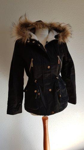 Jacke schwarz gold Größe S