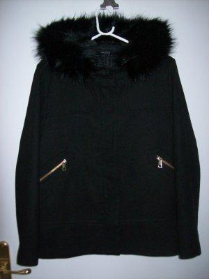 Zara Basic Giacca di lana nero Tessuto misto