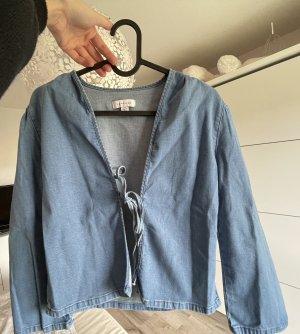 Topshop Blazer en jean bleuet-bleu azur