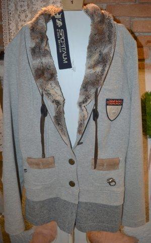 Sportalm Blazer de tela de sudadera gris Algodón