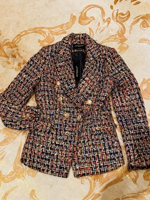 Attentif Blazer en tweed multicolore