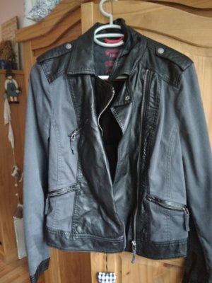 Street One Veste motard noir-gris anthracite