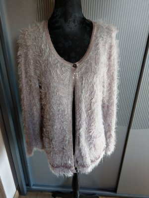 Jacke Strickjacke Cardigan rosa Made in Italy