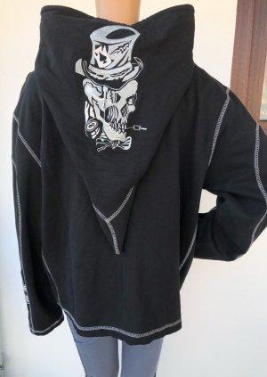 ohne Marke Sweat Jacket black-silver-colored cotton