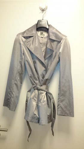 Easy Comfort Raincoat silver-colored-light grey polyester