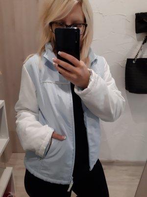 Jacke Übergangsjacke blau weiß Frühling