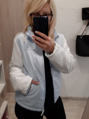 Jacke Übergangsjacke blau weiß Herbst