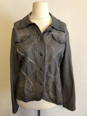 Jacke Übergangsjacke Blazer grau Batik