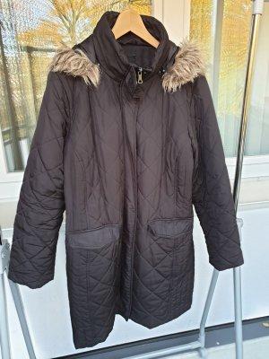 Fabiani Gewatteerde jas zwart Gemengd weefsel