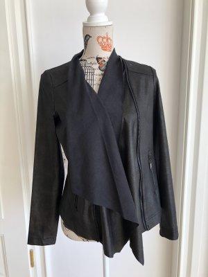 Manguun Veste en cuir synthétique noir