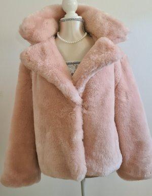 Pink Victoria's Secret Giacca in eco pelliccia rosa pallido