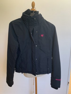 Abercrombie & Fitch Giacca invernale blu scuro-rosa