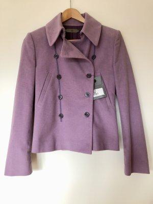 Alexander McQueen Krótka kurtka jasny fiolet Bawełna